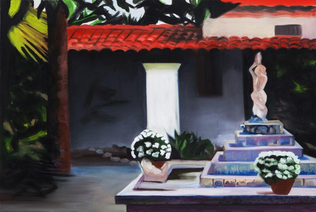Oren Ben Moreh, fountain, Oil on Canvas, 100x150, 2013