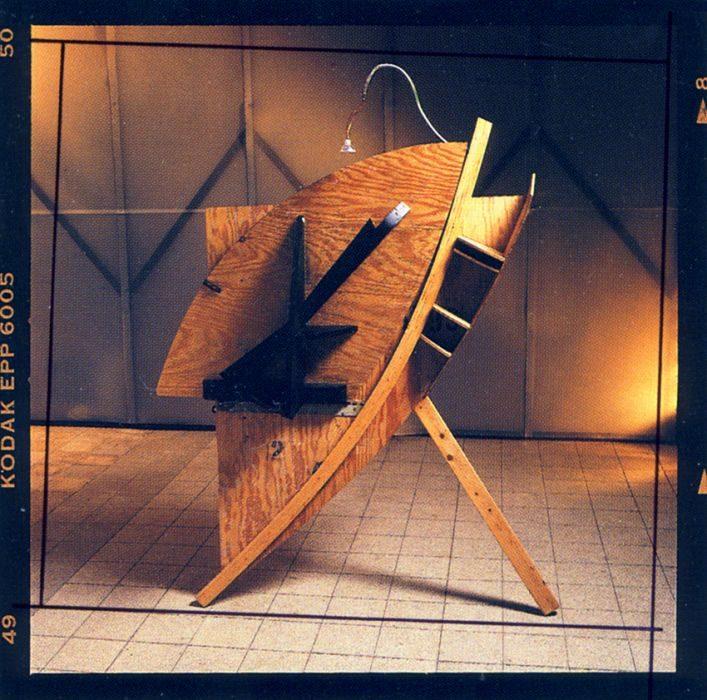 Chanan De Lange, Secretaries, Mixed media, 200x100/20x200cm, 1990