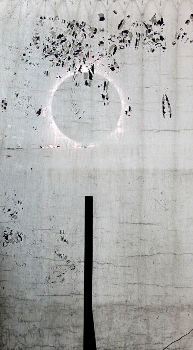 Chanan De Lange, Brief Night, Mixed Media, 120x210cm, 2013-2015