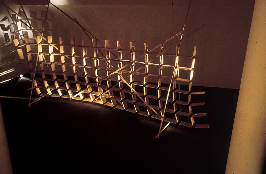 Chanan De Lange, The Library, installation Helena Rubinstein Pavilion, Tel Aviv Museum, 1995