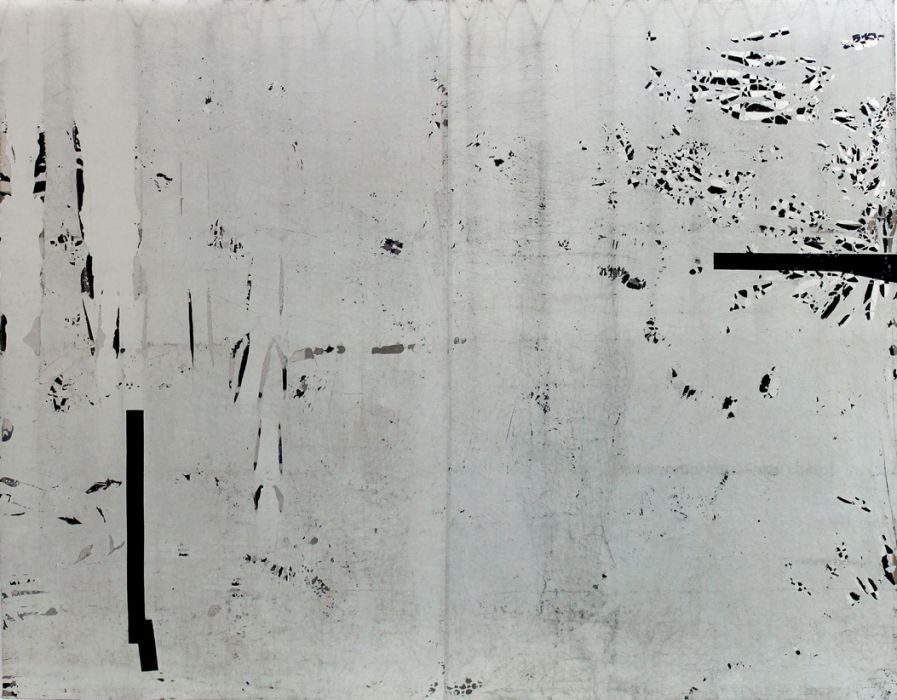 Chanan De Lange, white night, mixed media, 260x210cm, 2013-2015