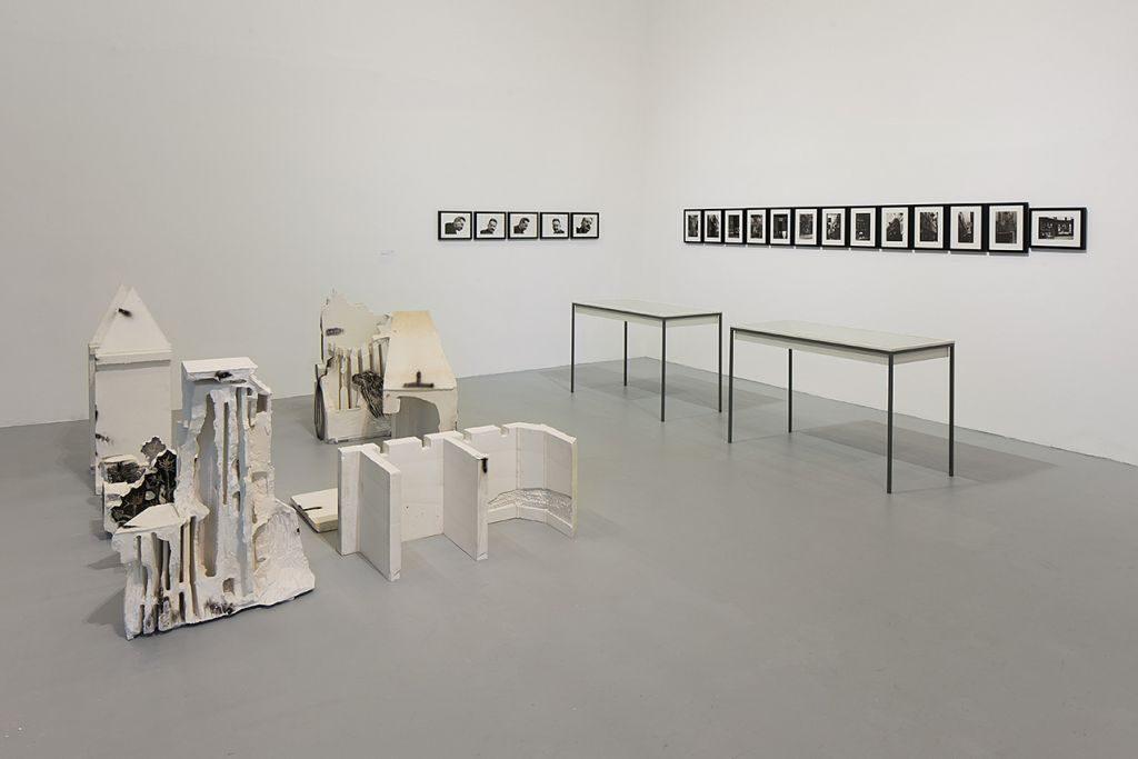 Shahar Yahalom, Walter Benjamin: Exilic Archive, installation view, Tel Aviv Museum,2015