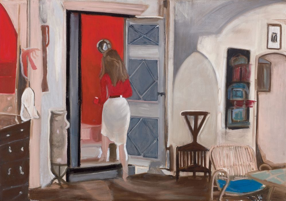 The red room,Oil on canvas, 70x100cm