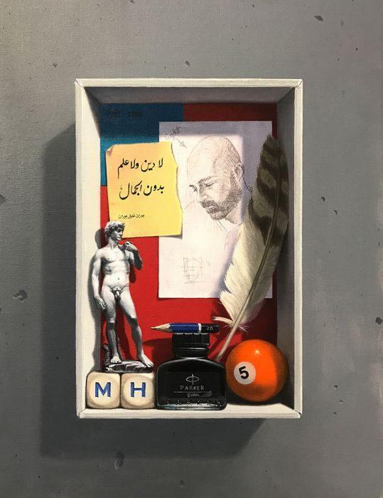 Memory box #4, oil on canvas, 43x35 cm, 2017