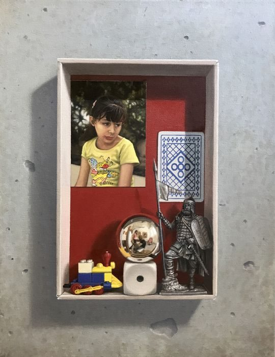 Memory box #2, oil on canvas, 43x35 cm, 2017