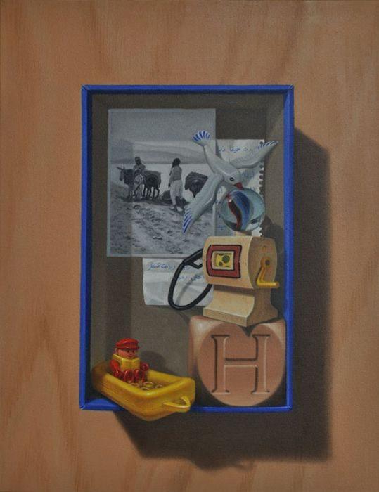 Memory box #1, oil on canvas, 43x35 cm, 2017
