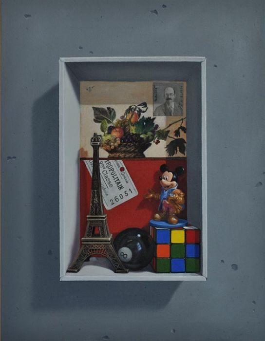 Memory box #3, oil on canvas, 43x35 cm, 2017