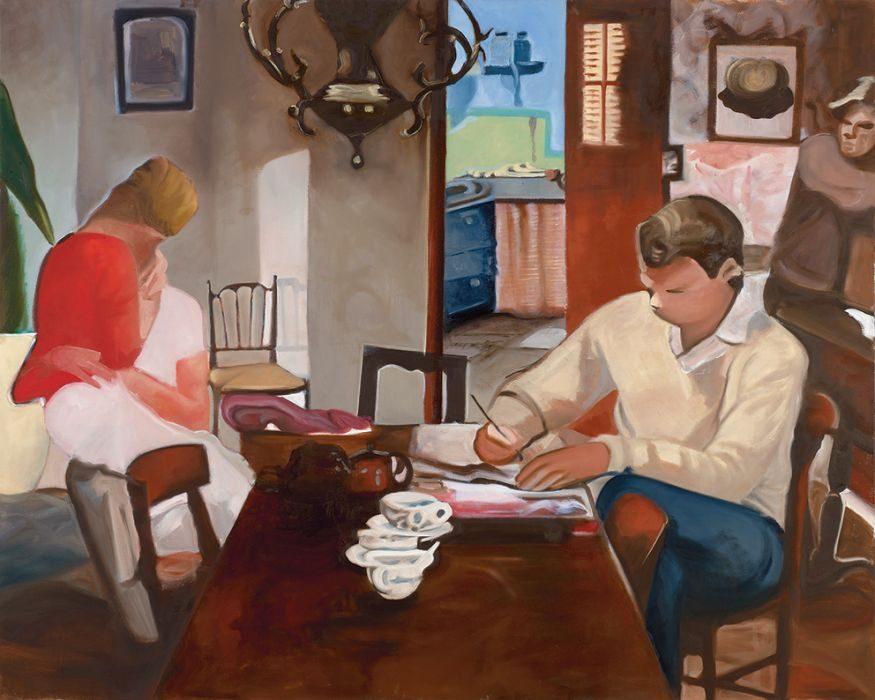dinner table, 150x120 cm, oil on canvas, 2016
