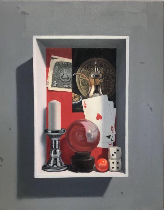 Memory box #5, oil on canvas, 43x35 cm, 2017