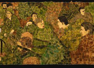 דינה שנהב, מנוחה, ספוג ואקריליק על קרטון ביצוע, 2008