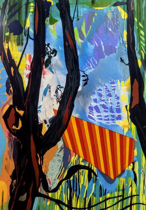 Woodpecker, 2019, Oil on canvas, 180x130cm