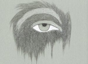 primates(eye)2016,ink on paper,39x31cm