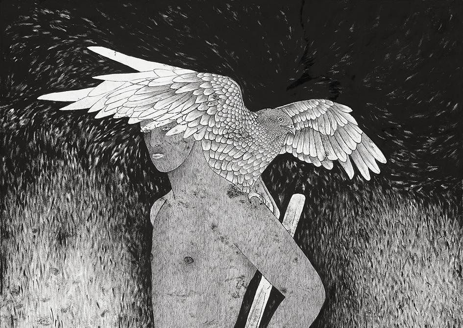 Abel (Nimrod) 100×70 cm (detail)