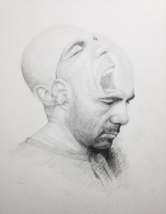 Michael Halak, Untitled, pencil on paper, 60x45cm,2015
