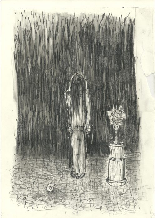 Shahar Yahalom, pencil on paper, 16.5x23cm, 2012