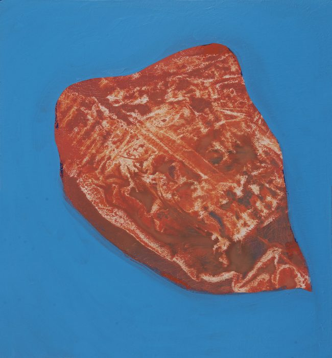 Heart Rock, 2020, Oil on canvas, 44x41cm
