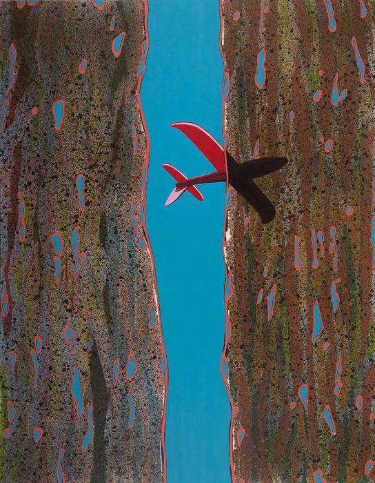 Passing Plane, 2020, Oil on canvas, 180x140cm