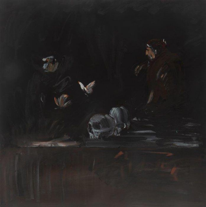 Eti Jacobi, Untitled #2, 2020, Acrylic on canvas, 40x40cm
