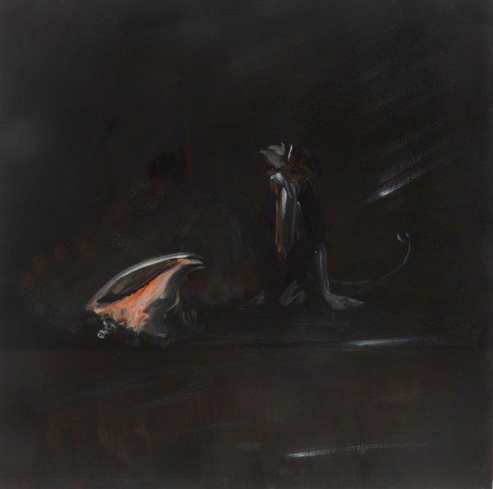 Eti Jacobi, Untitled #3, 2020, Acrylic on canvas, 40x40cm
