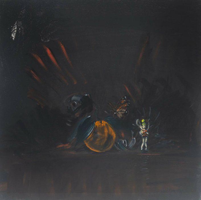Eti Jacobi, Untitled #4, 2020, Acrylic on canvas, 40x40cm