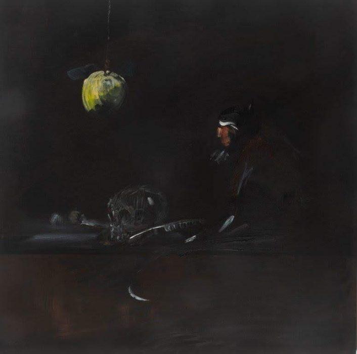 Eti Jacobi, Untitled #5, 2020, Acrylic on canvas, 40x40cm