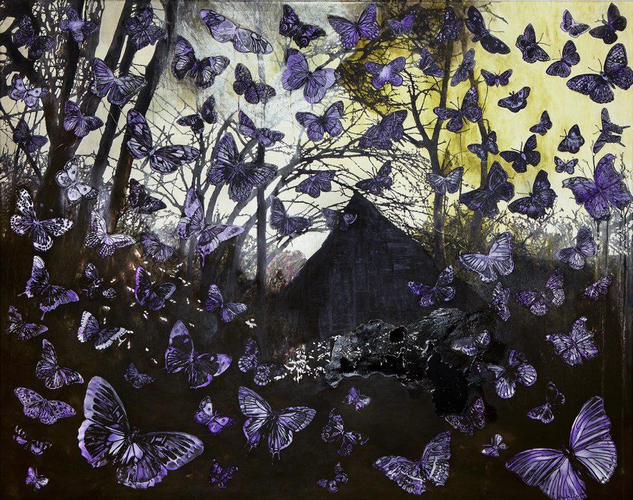 Anat Betzer, Untitled 22, 2019, oil on canvas, 100x150 cm