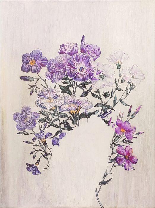 Anat Betzer, Untitled 6, 2019, oil on canvas, 60x45 cm