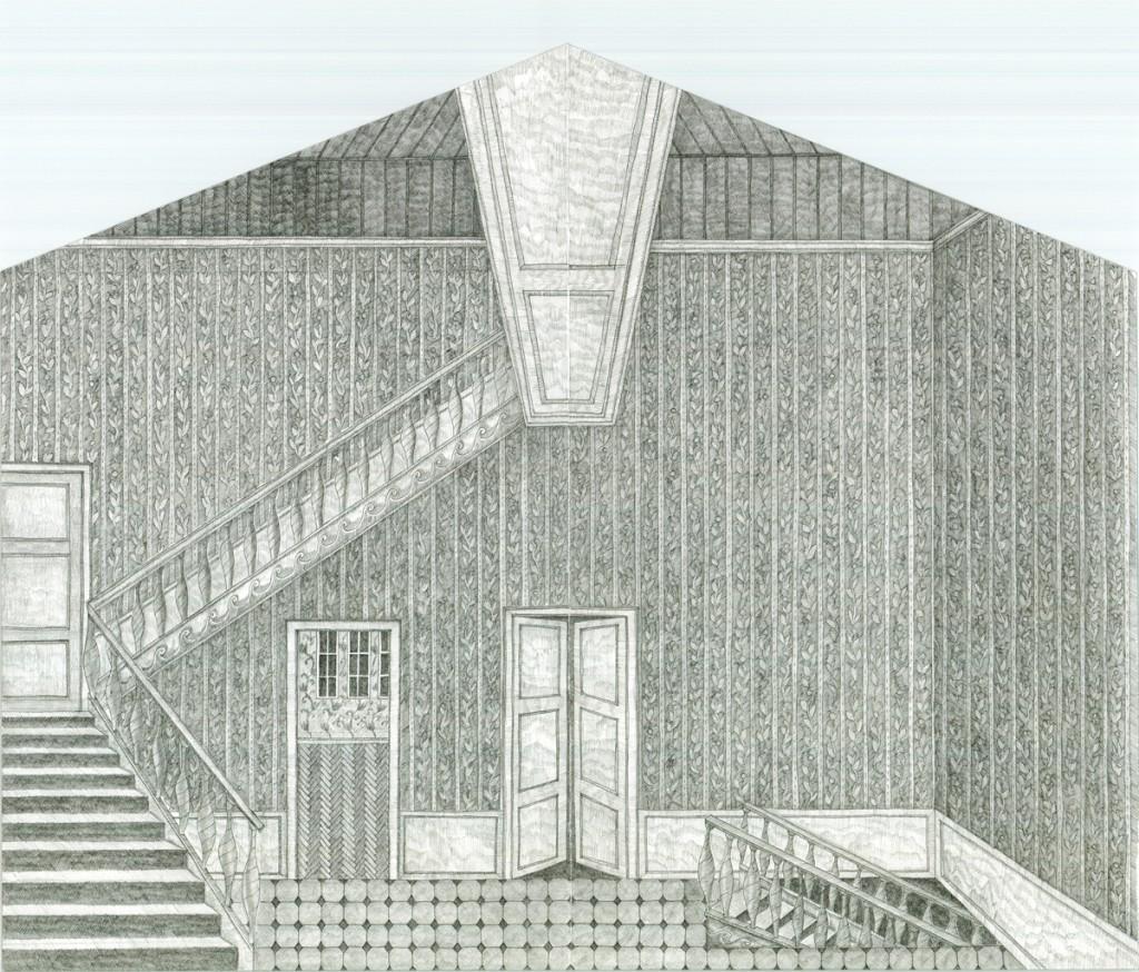 Alexandra Zuckerman, Room with srairs, 2014