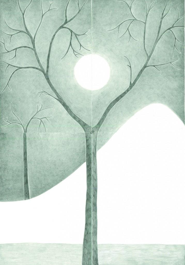 Alexandra Zuckerman, After moon triology (part 1), 118x94 cm, 2015