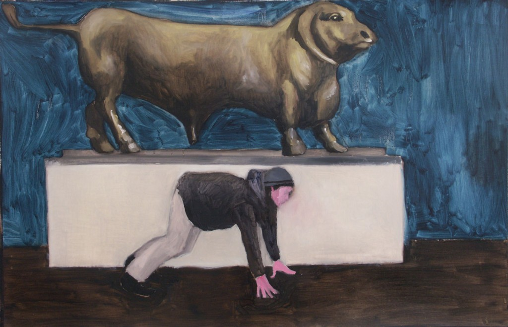 The Tourist, 60x100cm, oil on paper, 2005