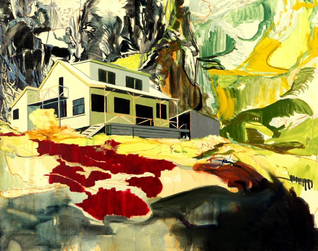 Matan Ben Tolila, Travelers' hut no1, Oil on canvas, 95x120cm, 2009
