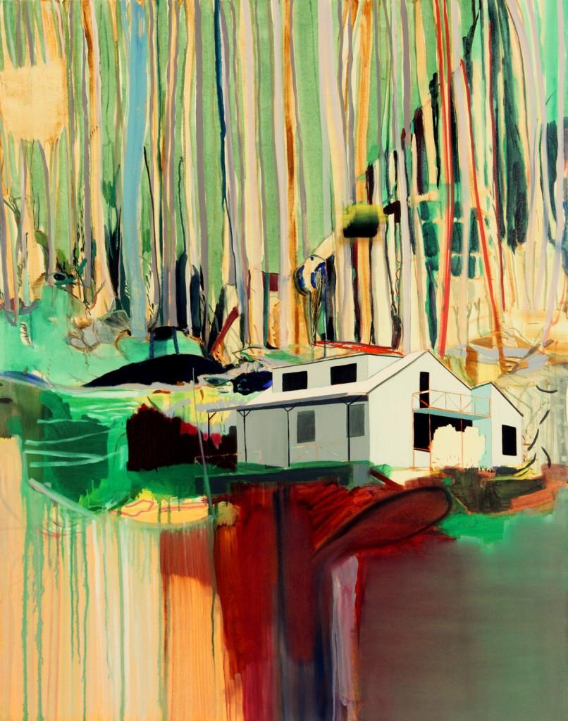 Matan Ben Tolila, Travelers' hut no 2, Oil on canvas, 115X145cm ,2010