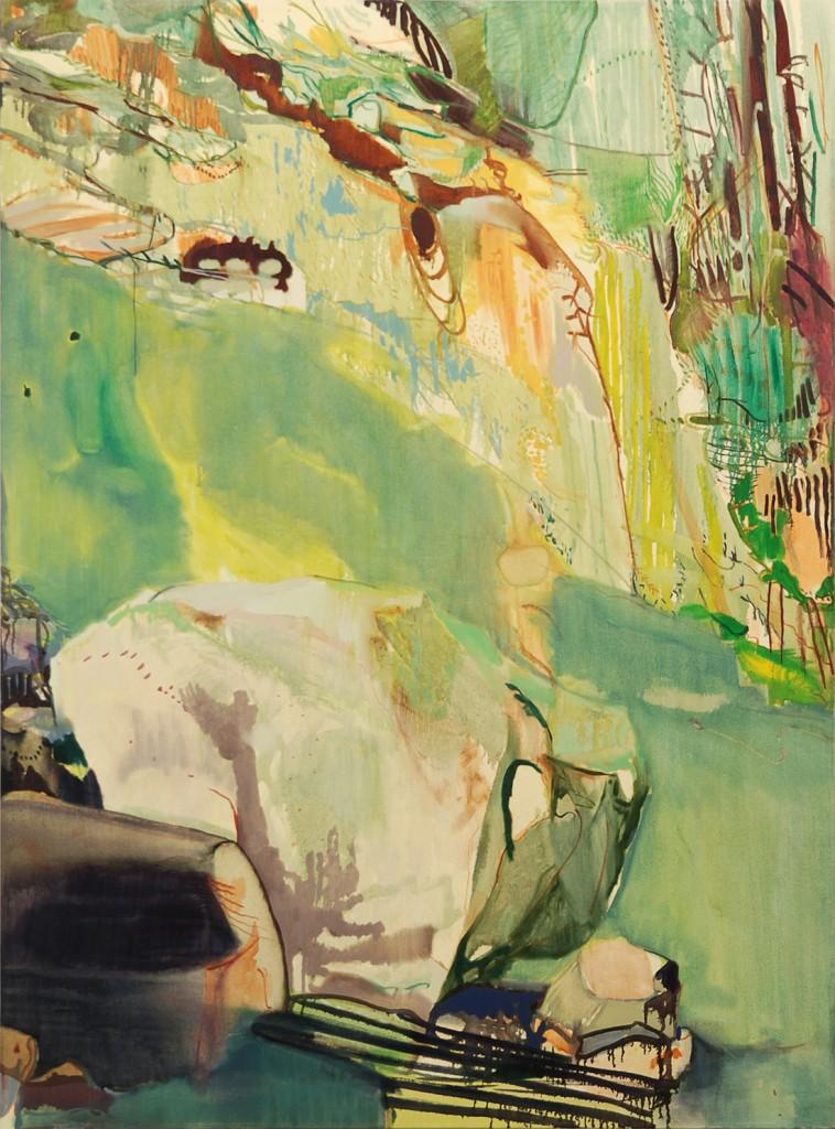 Matan Ben Tolila, Boulder, Oil on canvas, 148x108cm, 2010