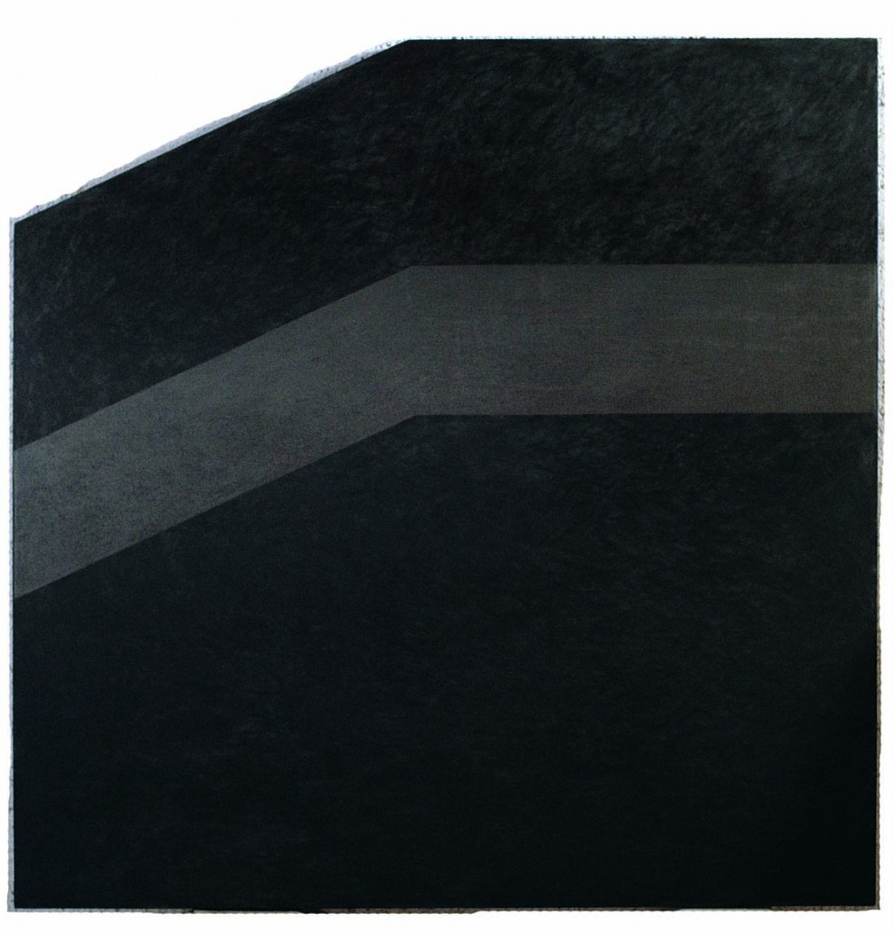 Untitled, oil and grafit on fabric, 142.5x142cm, 1985