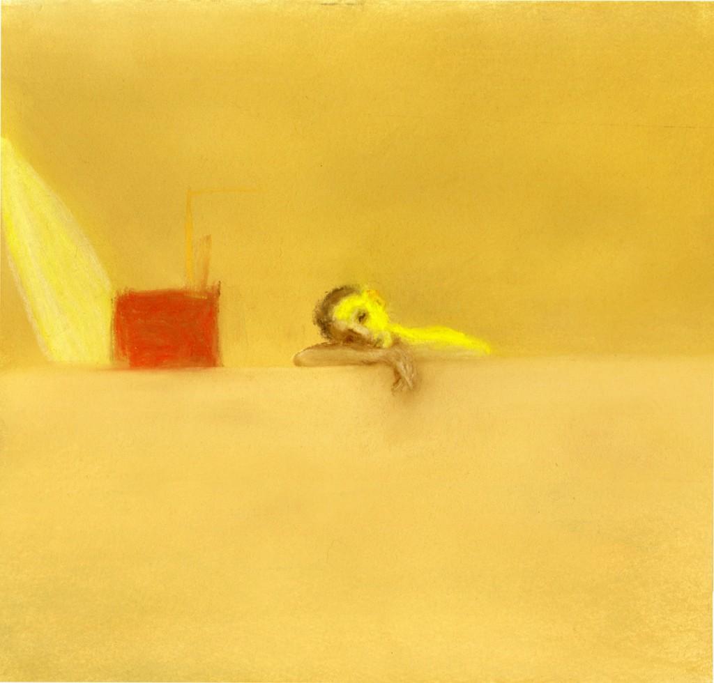 Talia Keinan, Walad el jiran, Colored chalks on paper, 25x25cm, 2013
