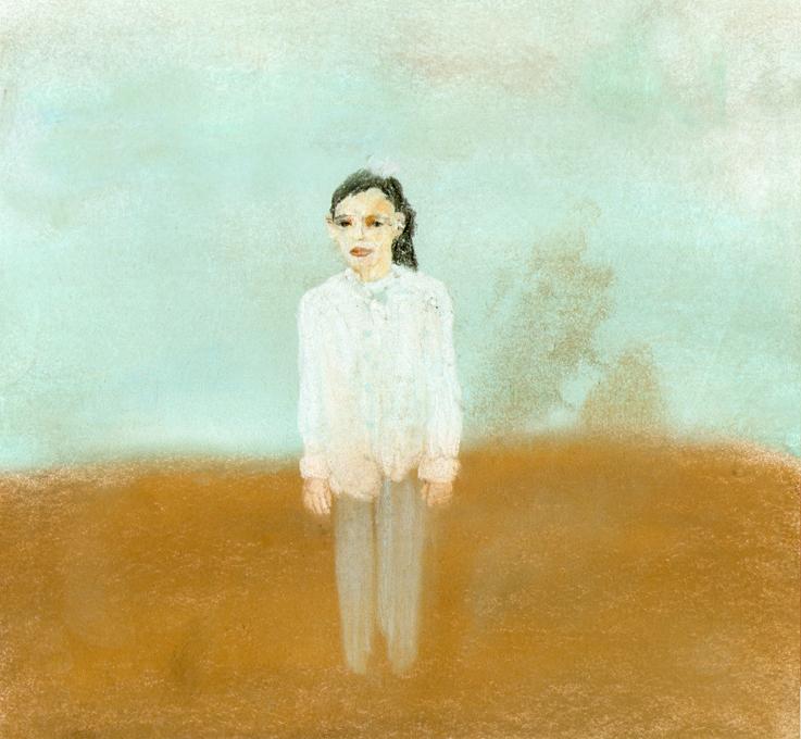 Talia Keinan, Ayman, Colored chalks on paper, 25x25cm, 2013