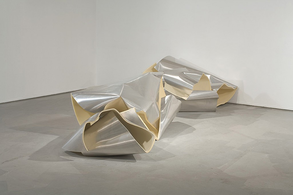 Lea Avital, Accidental Material, Aluminum and Sponge, 250x300cm, 2007
