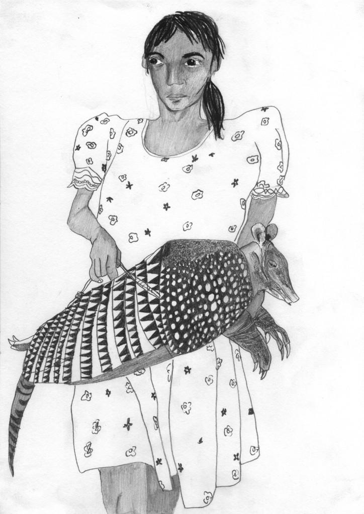 Talia Keinan, Armadilo, Pencil on paper, 30x20cm, 2003-2004