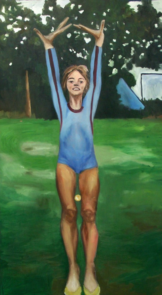 Athlete, oil on canvas, 145x82cm, 2006