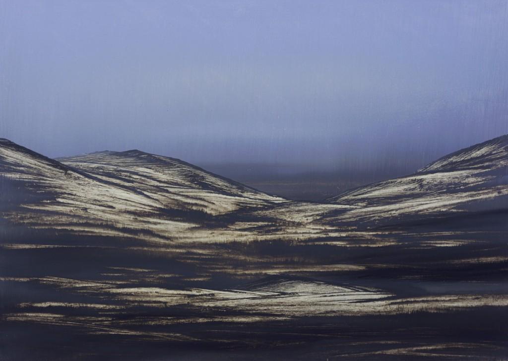 Azure Mountain, Oil on canvas, 70x50cm, 2014