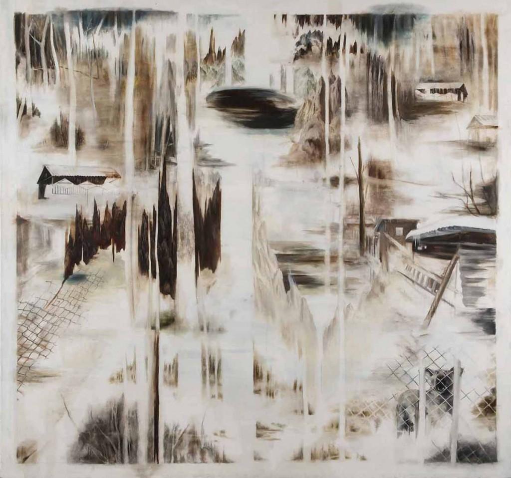 Barking, oil on canvas, 183X171cm, 2009