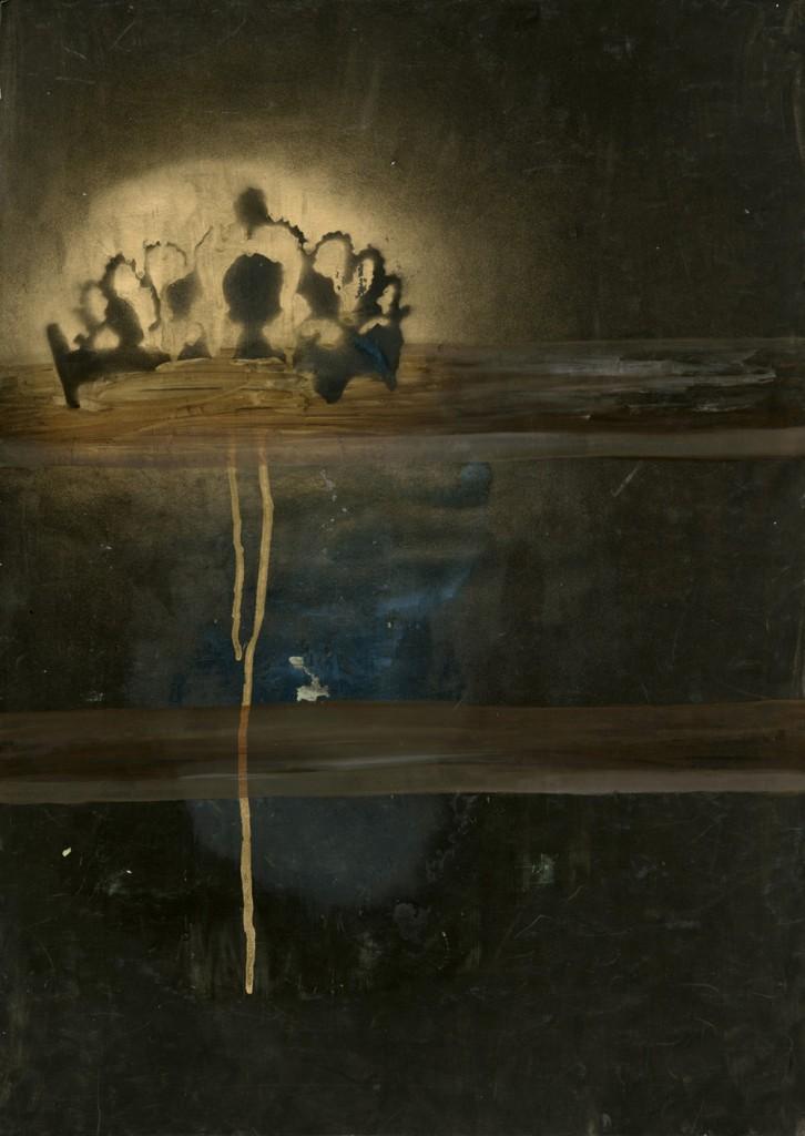 Talia Keinan, Crown, Mixed Media on Paper, 70x50cm, 2009