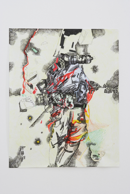 Dead Man, marker and pencil on paper, 74x58cm, 2007