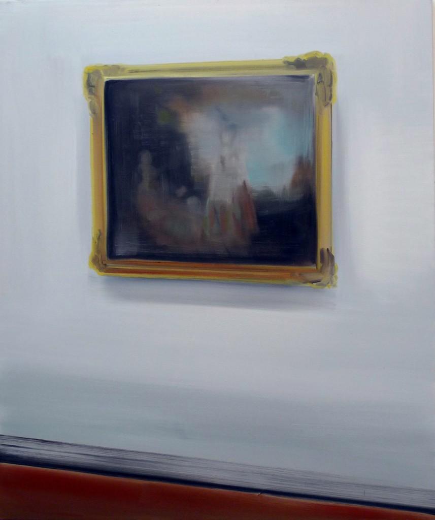 Jossef Krispel, Display (Watteau), Oil on Canvas, 105x88cm, 2010