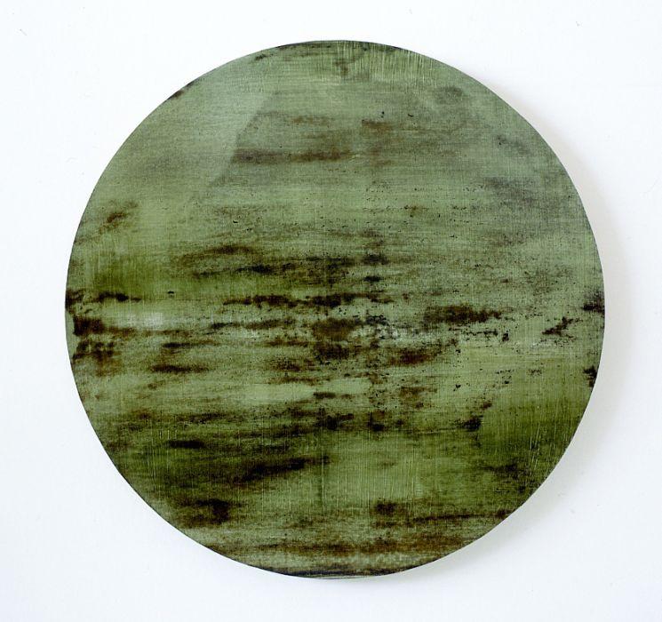 Joshua Borkovsky, Dream Stone, Distemper and oil on gesso on wood, 40cm, 1997