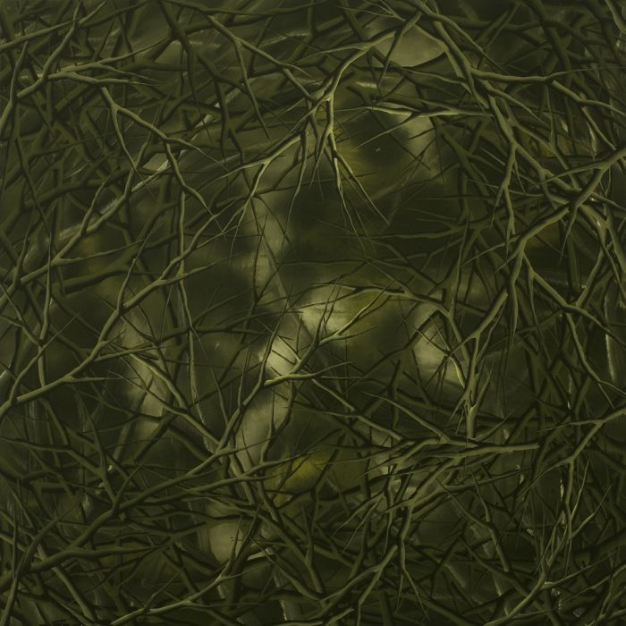 Early Forest Green (triptych- pt3), Oil on canvas, 60x60cm, 2008