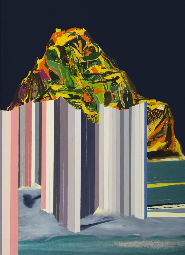 Matan Ben Tolila, Fence & Cloud, Oil on canvas, 111x155 cm, 2014