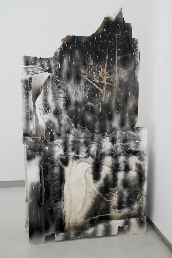 Garden, Plaster Headstone, 110x60x37cm, 2015