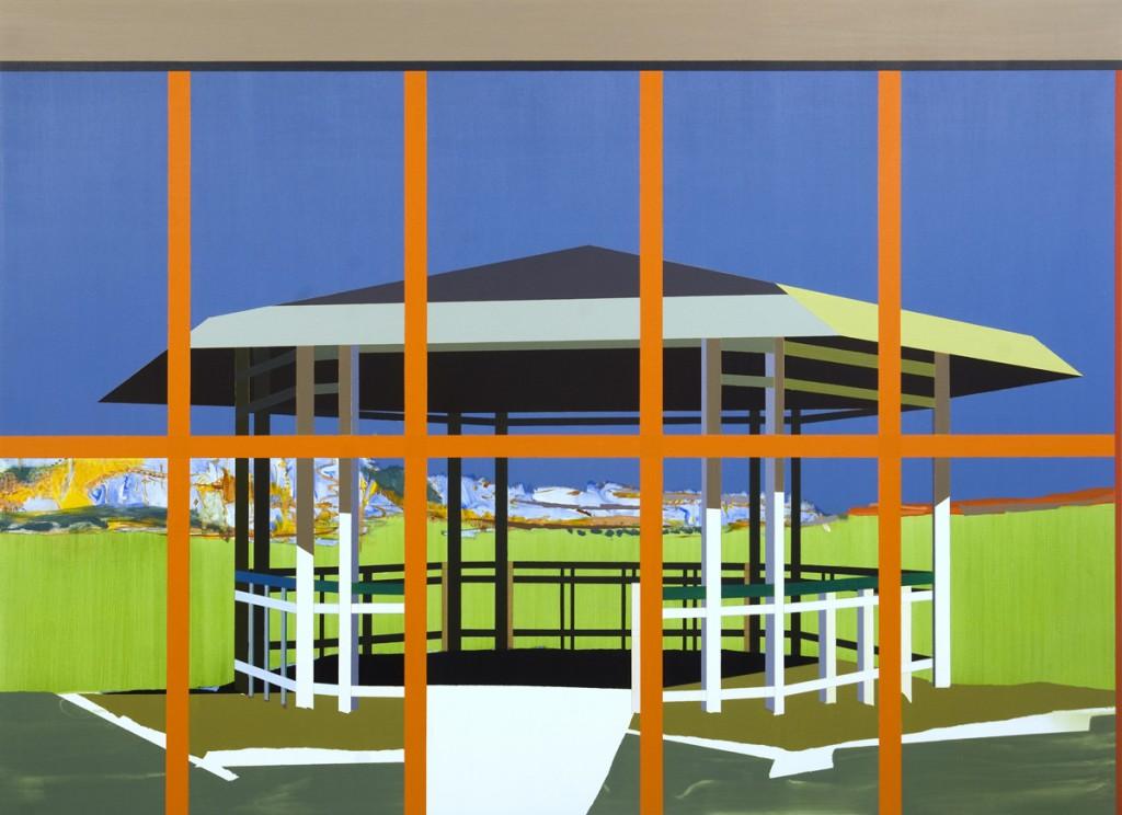 Matan Ben Tolila, Gazebo, Oil on canvas, 146x200 cm, 2012