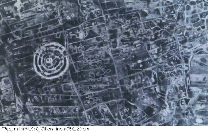 Gilad Efrat, Rujum Miri ,Oil on linen, 75x120cm, 1998